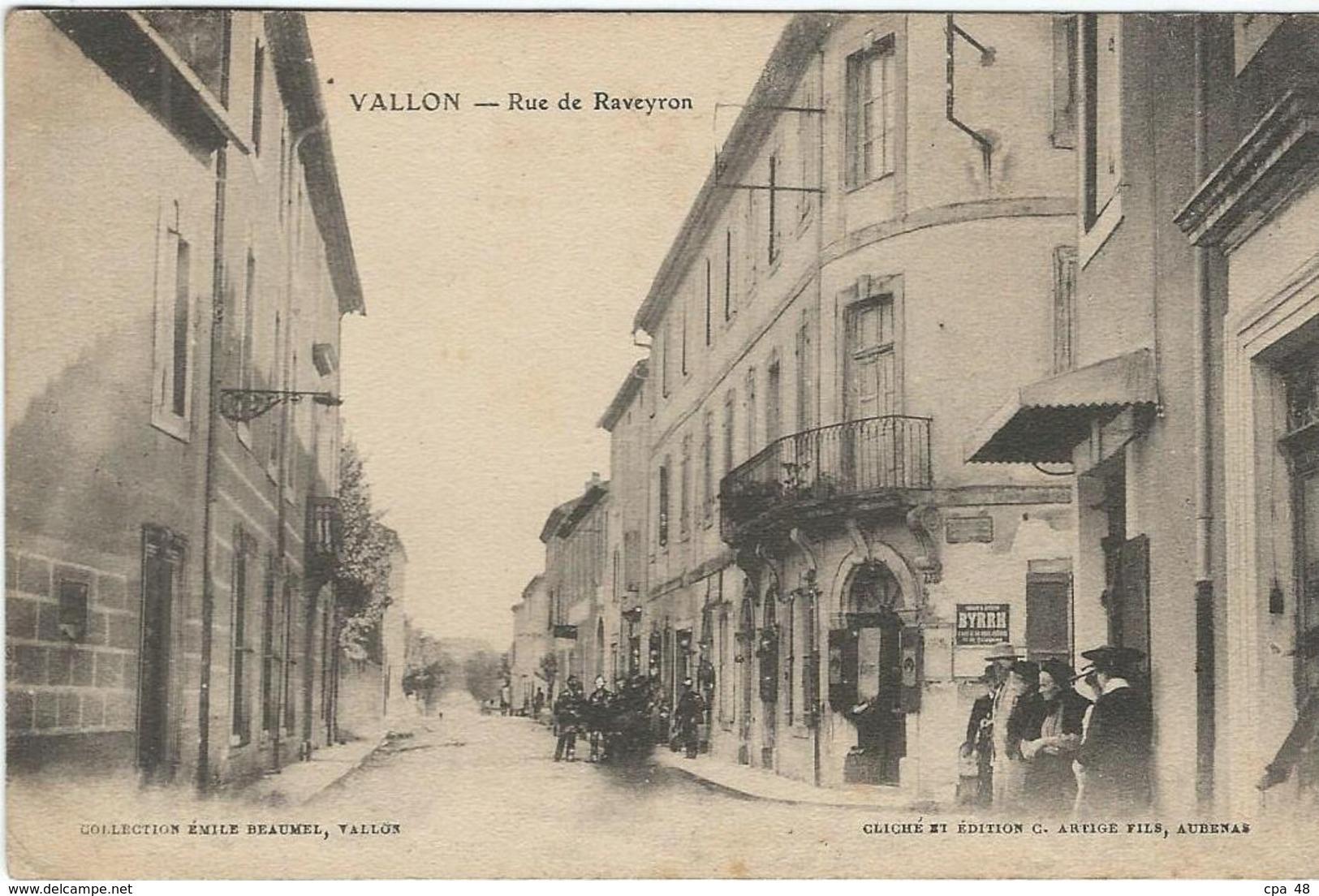 Ardèche : Vallon, Rue De Raveyron - Vallon Pont D'Arc