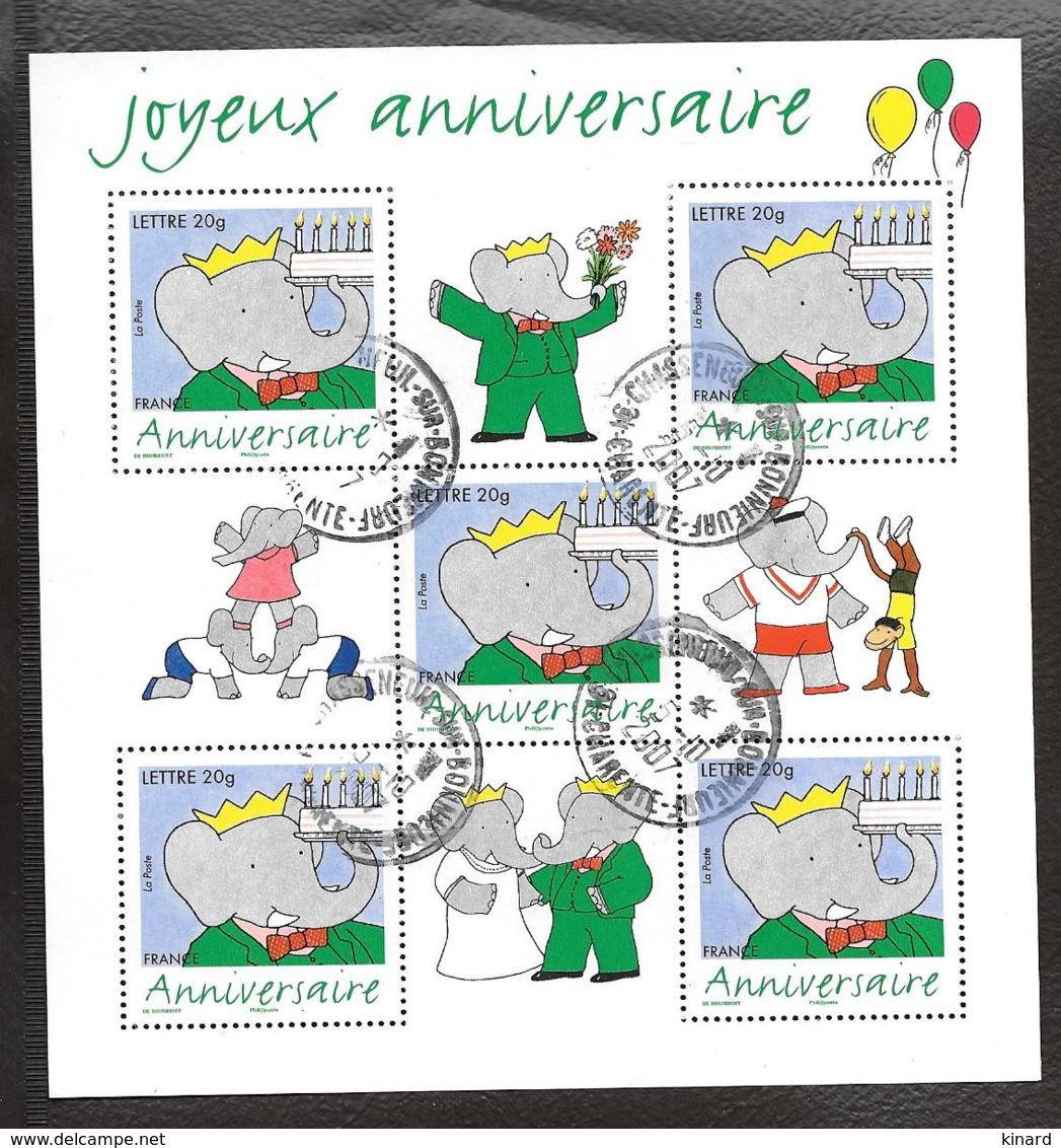 BLOC FRANCAIS OBLITERATION RONDE...JOYEUX ANNIV BABAR...2006...N° 100.....SCAN - Blocs & Feuillets