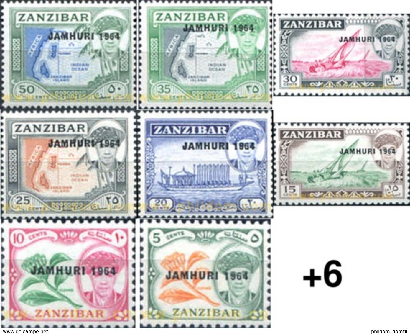 Ref. 34233 * MNH * - ZANZIBAR. 1964. BASIC SET . SERIE BASICA - Zanzibar (1963-1968)