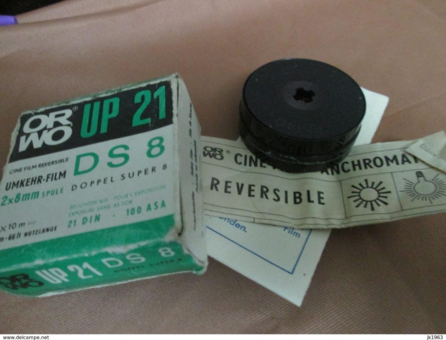 ORWO UP21 DS 8  2x8mm 20m-66ft 21DIN 100ASA UMKHER- FILM - Pellicole Cinematografiche: 35mm-16mm-9,5+8+S8mm