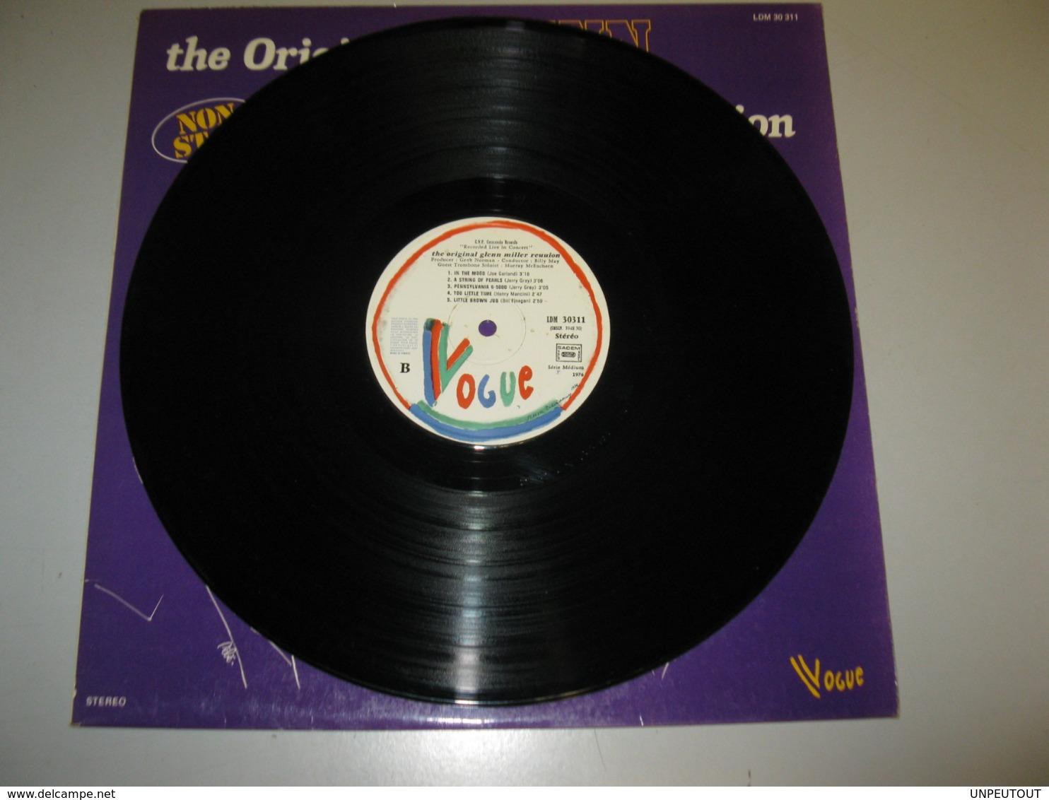 "VINYLE ""THE ORIGINAL GLENN MILLER REUNION"" 33 T VOGUE (1976) - Jazz"