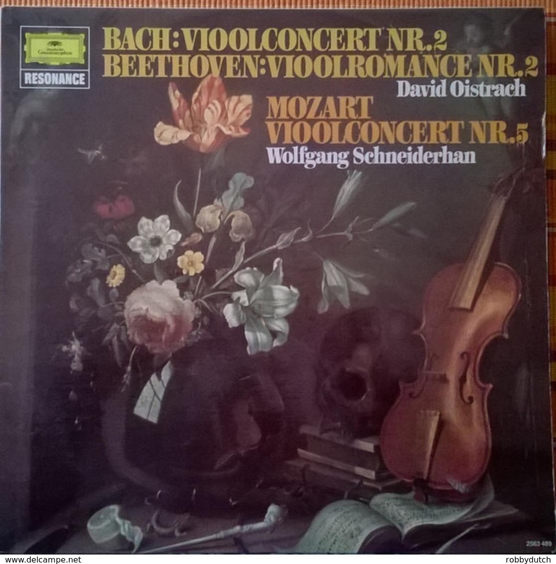 * LP * BACH: VIOOLCONCERT Nr.2 / BEETHOVEN: VIOOLROMANCE Nr.2 / MOZART: VIOOLCONCERT Nr. 5 - Klassiekers
