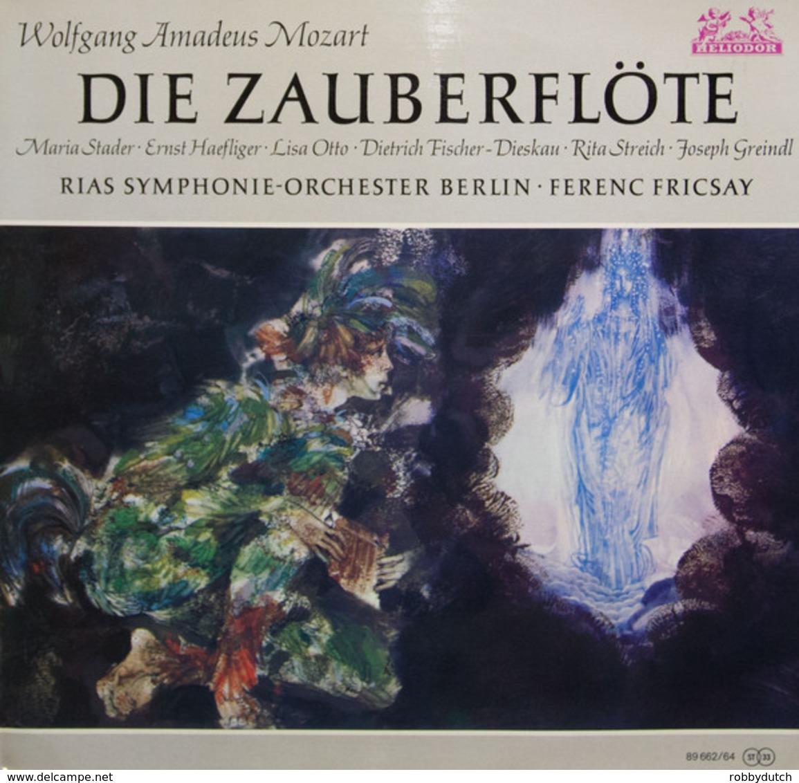 * 3LP *  MOZART - DIE ZAUBERFLÖTE - RIAS SYMPHONIE-ORCHESTER BERLIN / FERENC FRICSAY - Oper & Operette