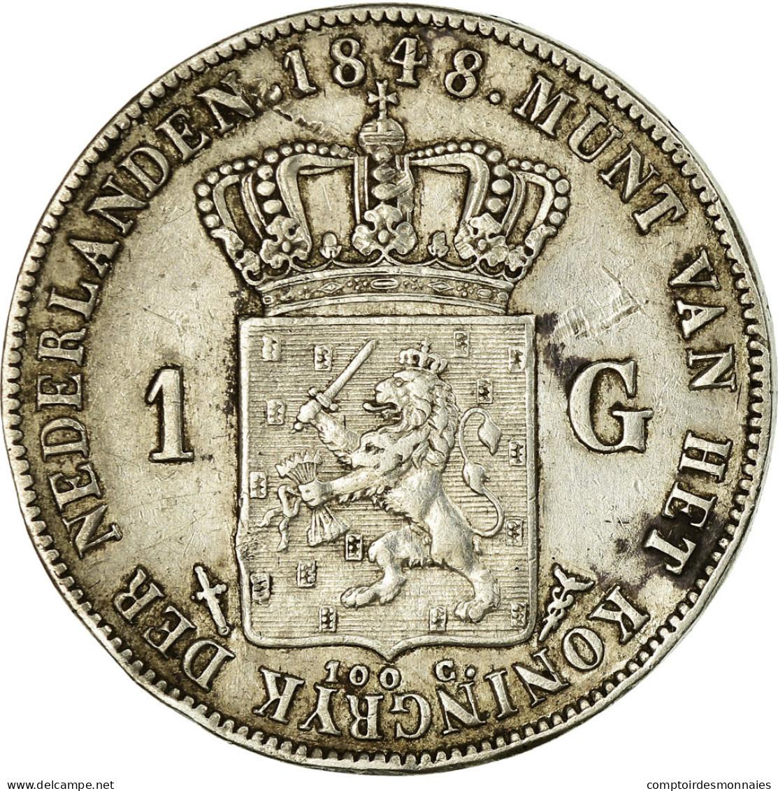 Monnaie, Pays-Bas, William II, Gulden, 1848, Utrecht, TTB, Argent, KM:66 - 1840-1849 : Willem II
