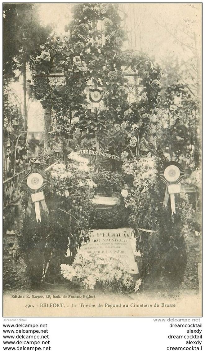 90 BELFORT. Tombe De Pégoud Au Cimetière De Brasse 1918 - Belfort - Stadt