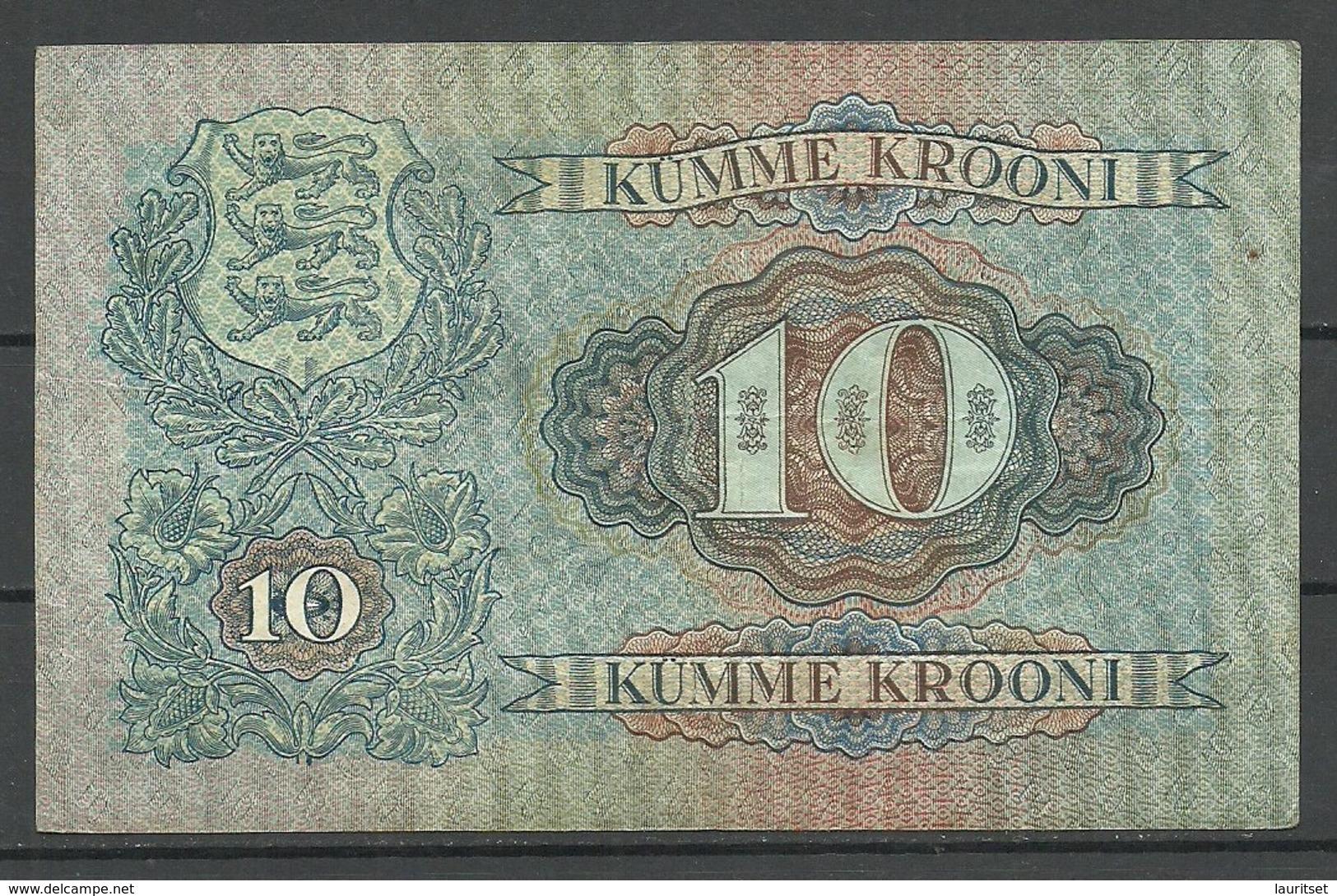 Estland Estonia 1928 Bank Note Banknote 10 Krooni 1928 - Estonia