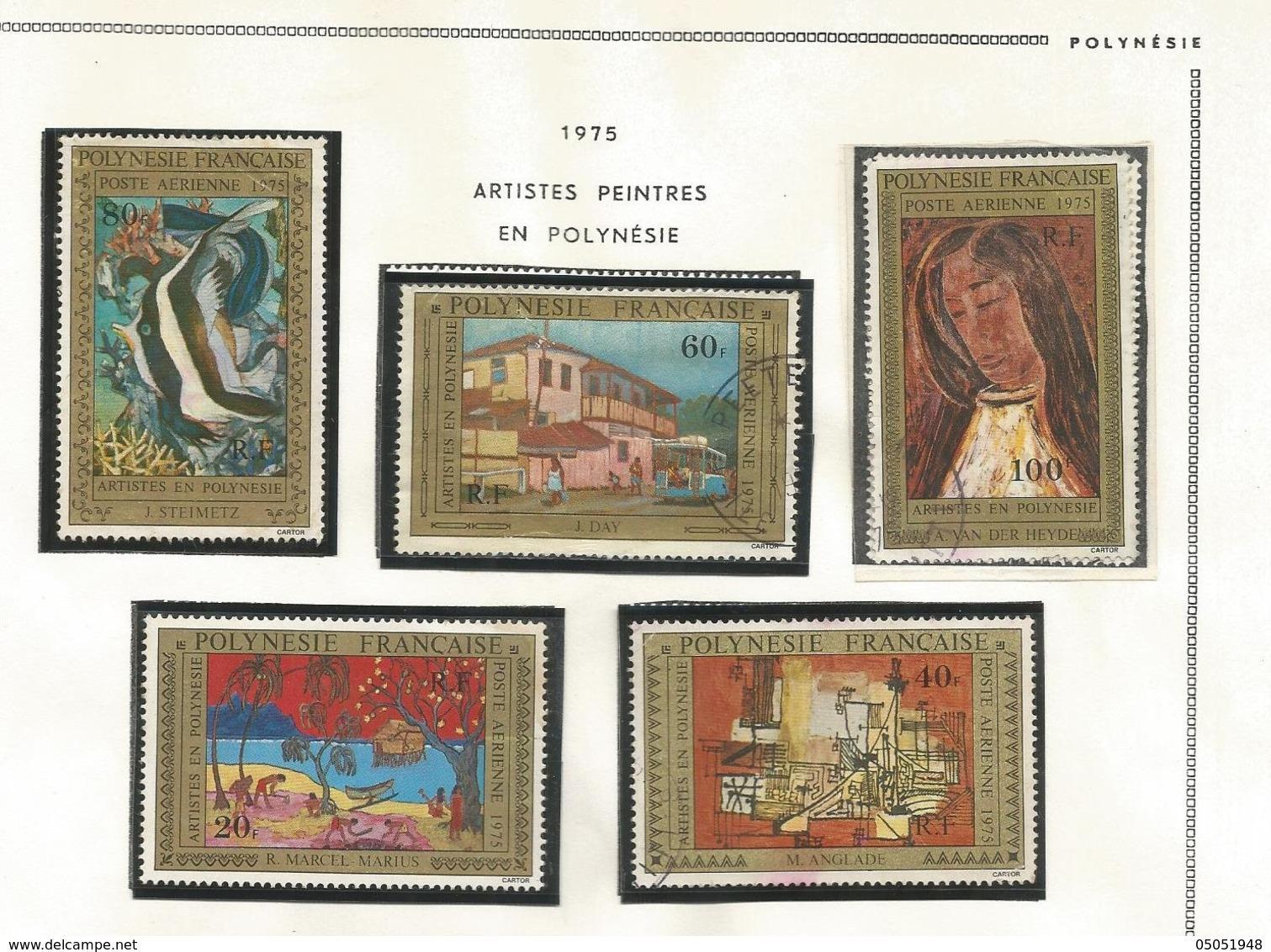 98/102  Artistes En Polynésie  (pag12 Claspolubleu) - Oblitérés