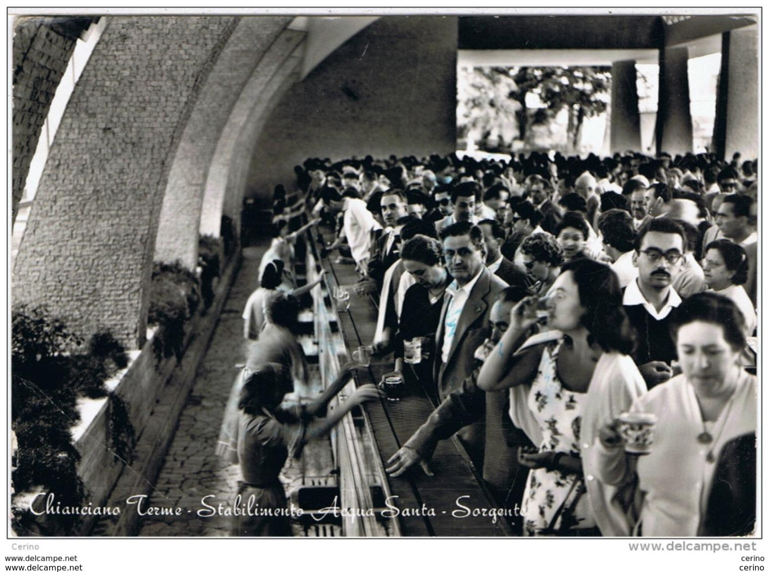 CHIANCIANO  TERME (SI): STABILIMENTO  ACQUA  SANTA -  SORGENTE  -  CARTOLINA  SGUALCITA  -  F.LLO  TOLTO  -  FOTO  -  FG - Salute