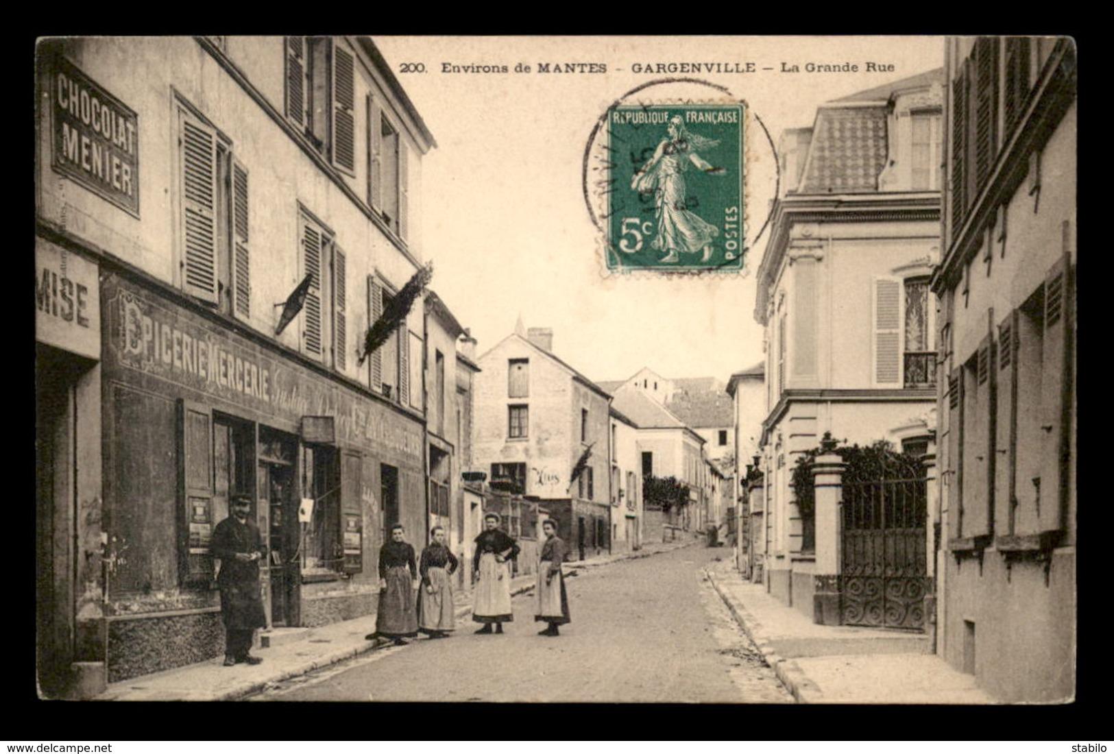 78 - GARGENVILLE - LA GRANDE RUE - EPICERIE GUSTAVE DUBOCQ - Gargenville