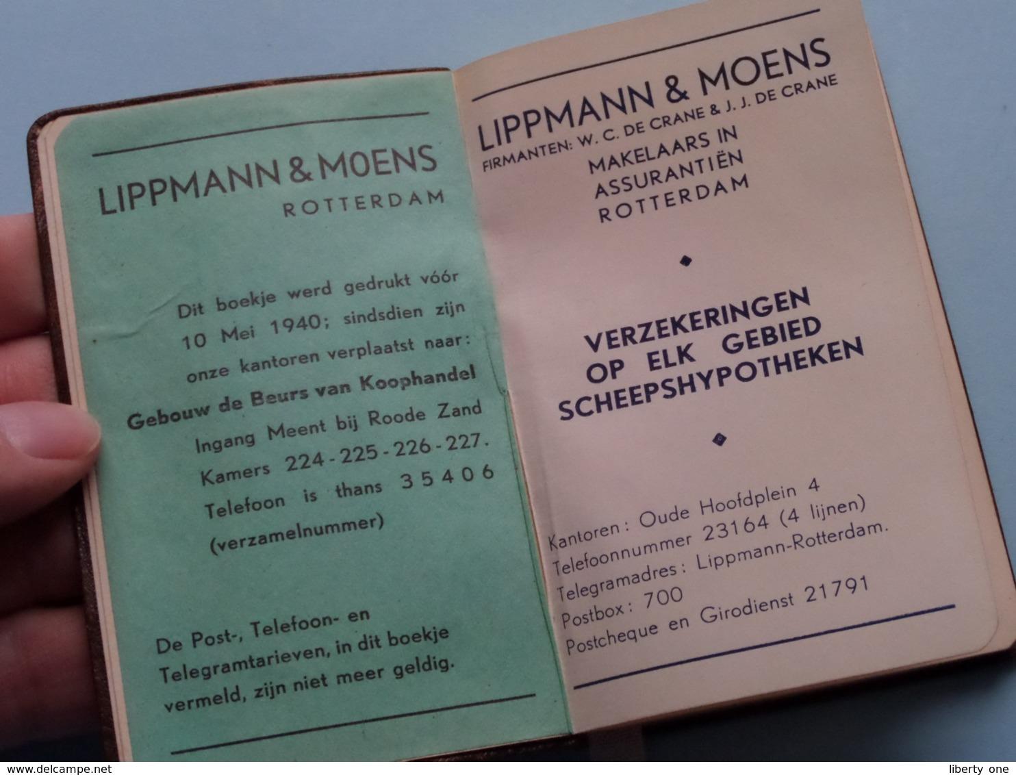 AGENDA 1941 > Publi LIPPMANN & MOENS Makelaars In Assurantiën ROTTERDAM ( Voir / See Photo ) Niet Gebruikt ! - Autres
