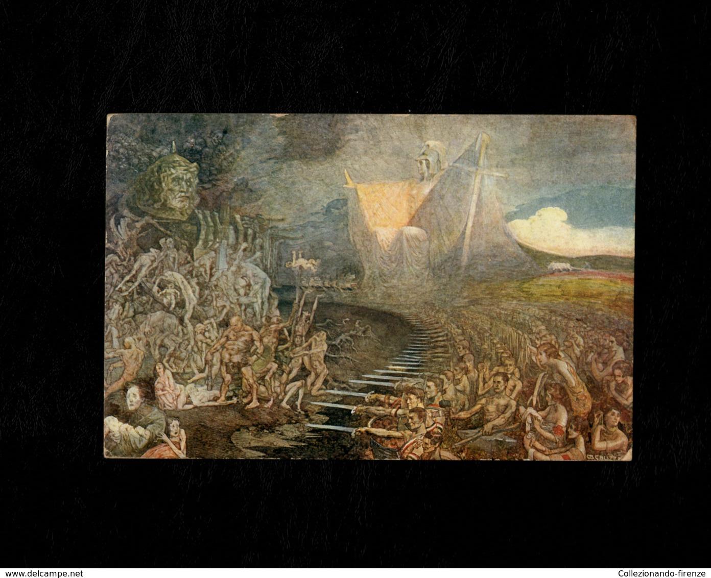 Cartolina Illustrata - Concorso Nazionale D'Arte Per La Nostra Guerra - A Beneficio Dei Minorenni Profughi Accolti.. - Guerre 1914-18