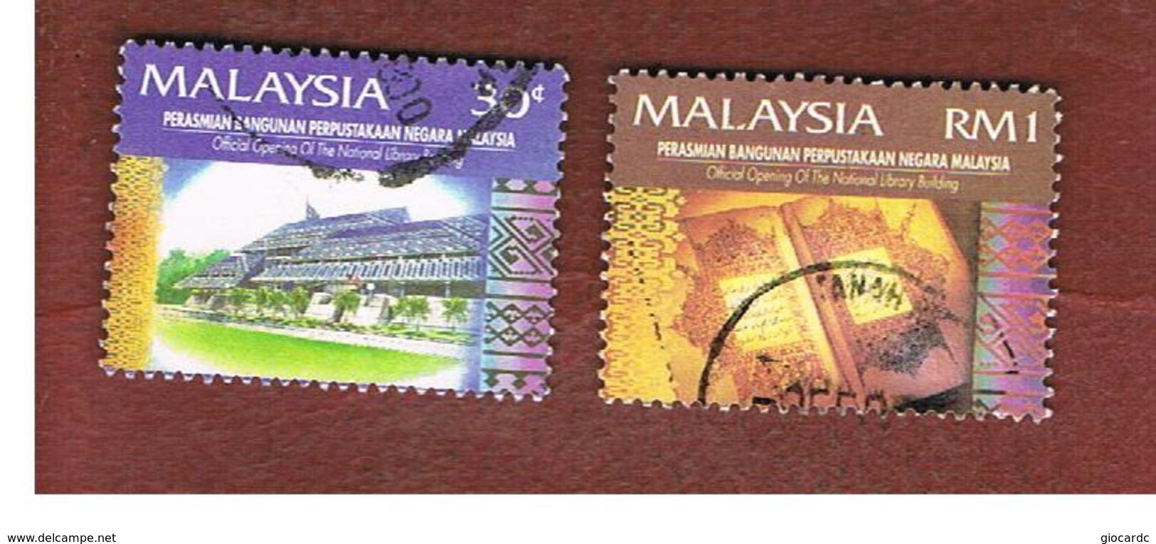 MALESIA (MALAYSIA)  -  SG 552.554  -   1994  NATIONAL LIBRARY  -  USED ° - Malesia (1964-...)