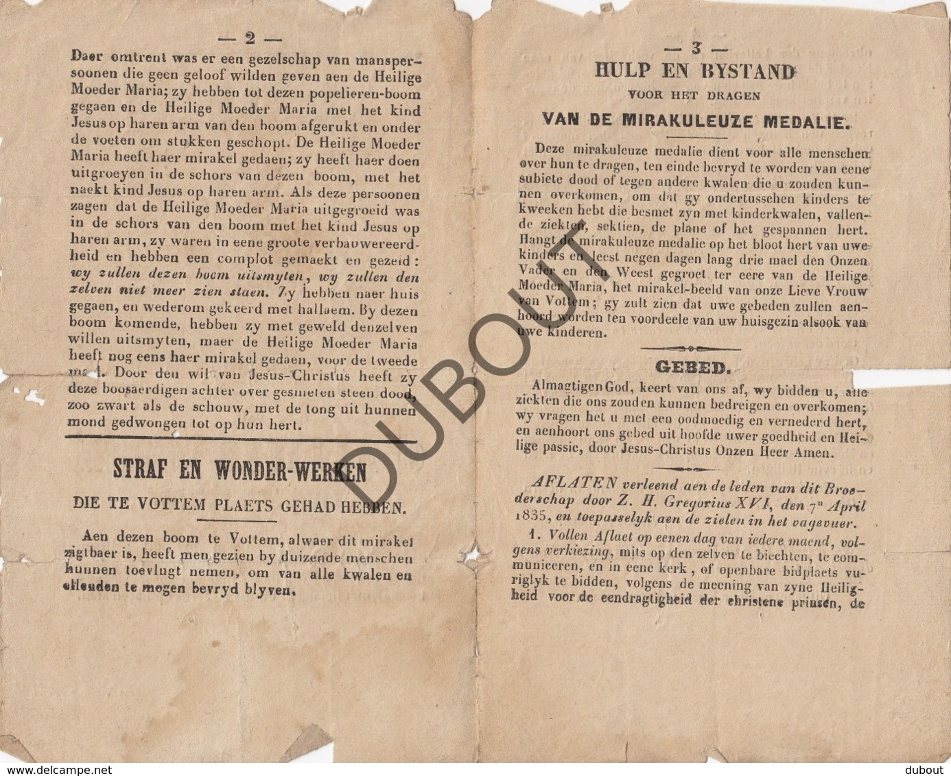 VOTTEM/Herstal/Luik - Kort Verhaal Onze Lieve Vrouw 1851 - Uiterst Zeldzaam! (R314) - Boeken, Tijdschriften, Stripverhalen