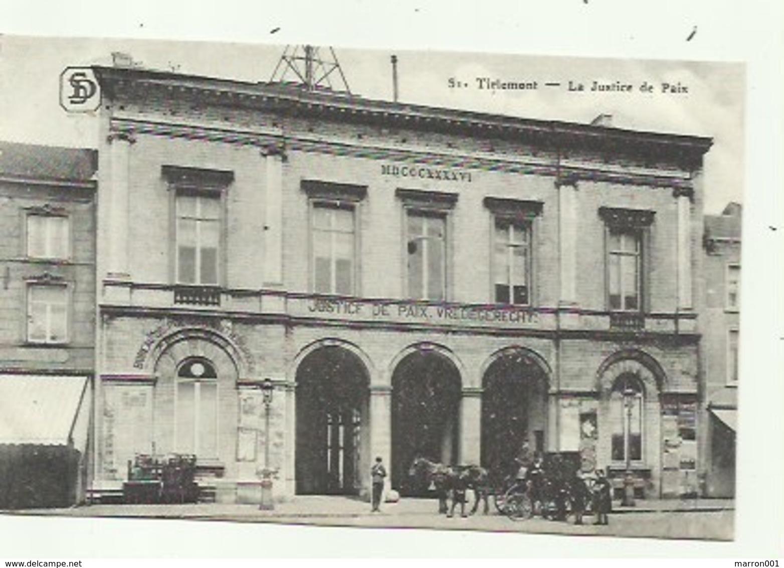 Tienen - Tirlemont - La Justice De Paix- Vredegerecht  ( Duitse Postzegel 1915, Geprüft ) - Tienen