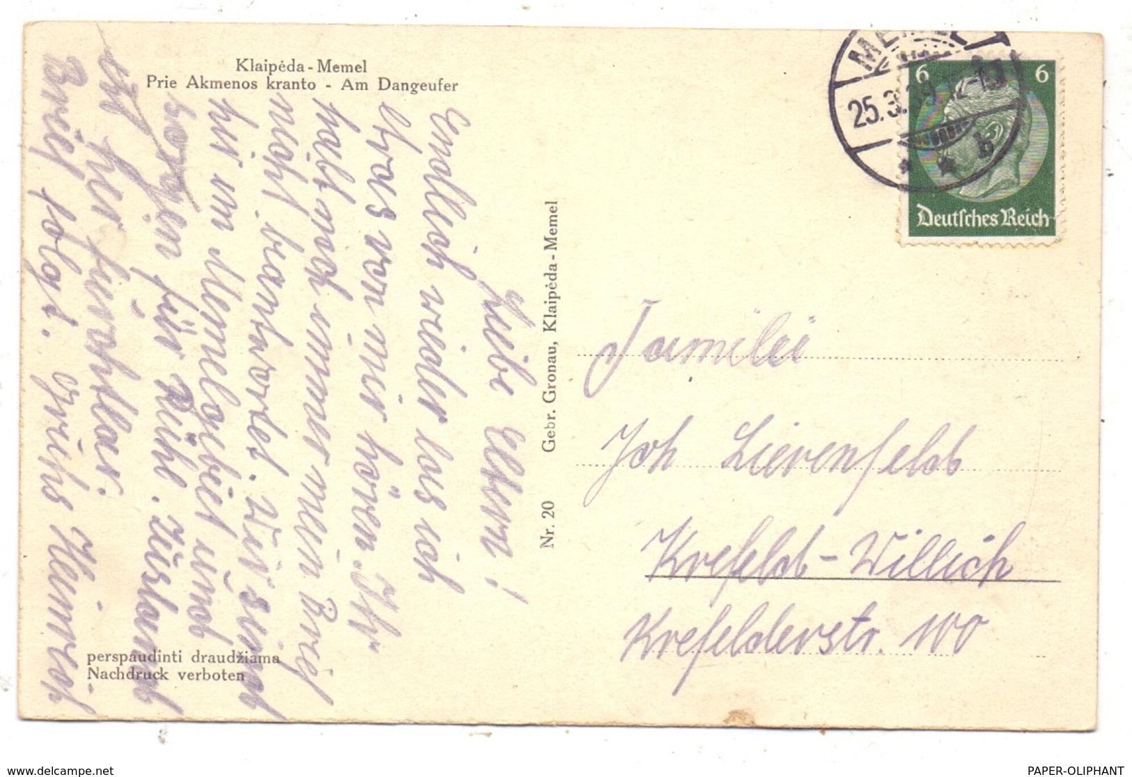 LITAUEN / LIETUVA - MEMEL / KLAIPEDA, Am Dangeufer, Schlepper, Gleisanlagen, 1939 - Litauen