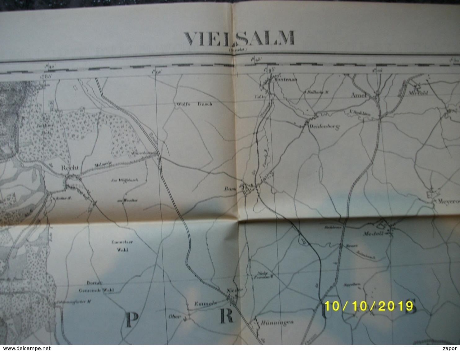 Carte Topographique De Vielsalm (Wanne - Bovigny - Beho - Commanster - Amel - Schönberg - Bleialf) - Cartes Topographiques