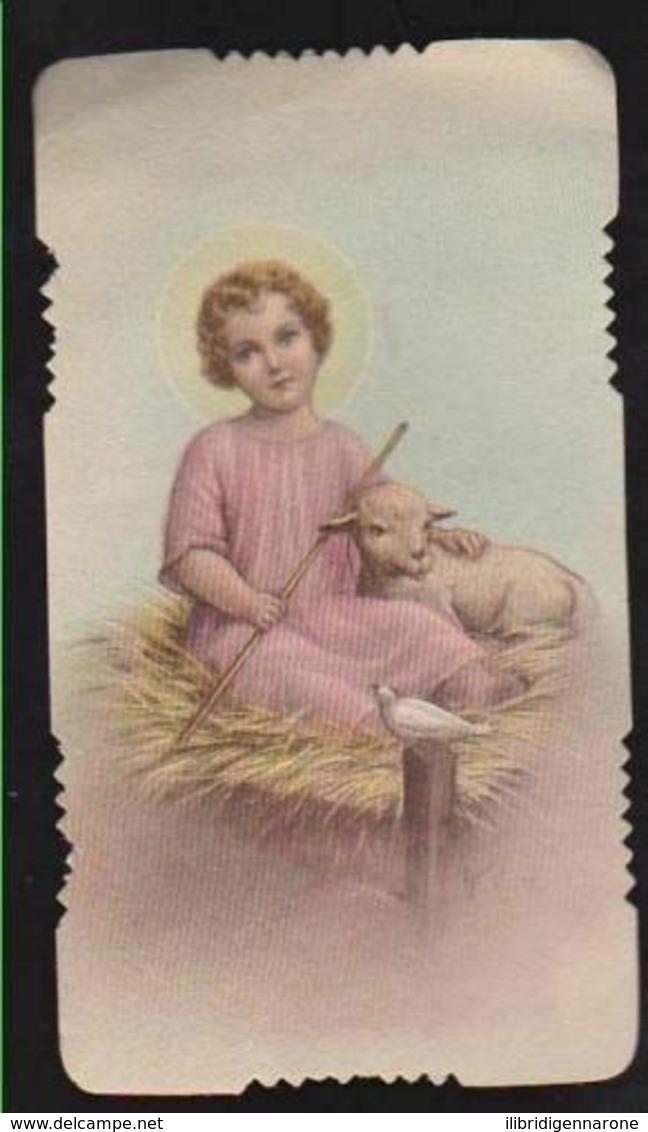 ANTICO SANTINO INNO A GESU' BAMBINO EDIT. GN 3176 FUSTELLATO IMAGE PIEUSE - Images Religieuses