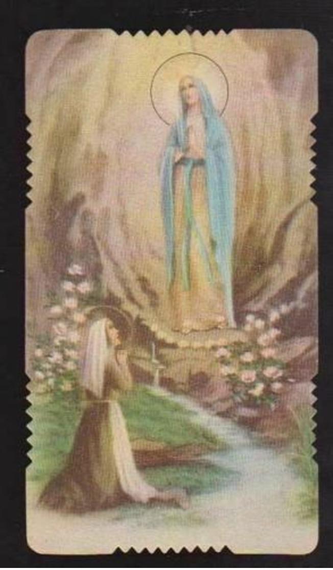 ANTICO SANTINO MADONNA DI LOURDES , EDITORE GN 3055 , CANTO DEI PELLEGRINI - Devotion Images