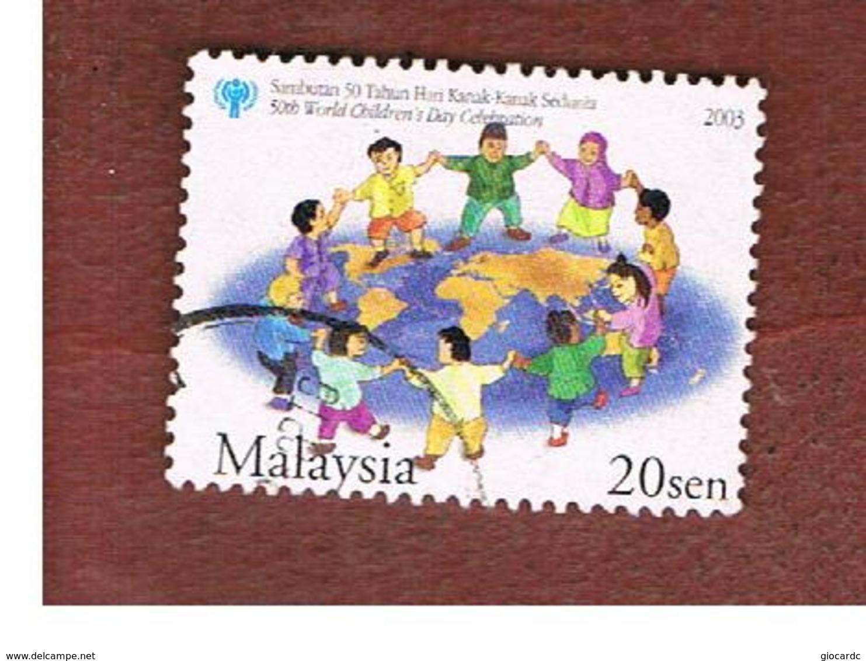 MALESIA (MALAYSIA)  -  SG 1172b -   2003 INT. CHILD DAY: CHILDREN  -  USED ° - Malesia (1964-...)