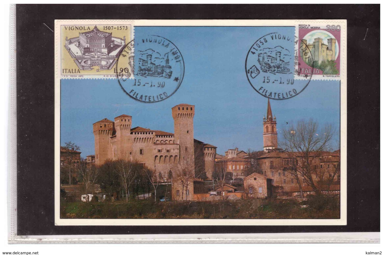 TEM3113   -   VIGNOLA  15.1.1990   /    VIGNOLA, IL CASTELLO - Castles