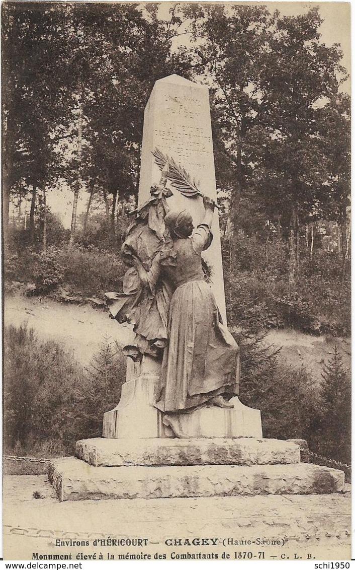 ~  JP  ~  70  ~  CHAGNEY ~    Monument élvé à La Mémoire Des Combattants 1870 ~ 71  ~ - France