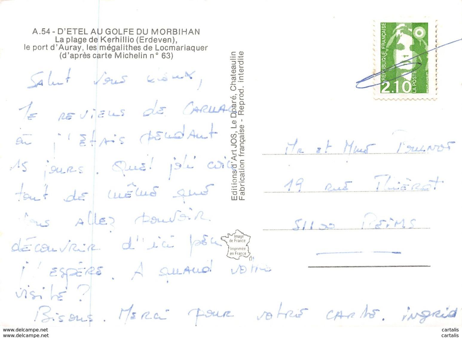 56-D ETEL AU GOLFE DU MORBIHAN-N°C-3593-A/0077 - Francia