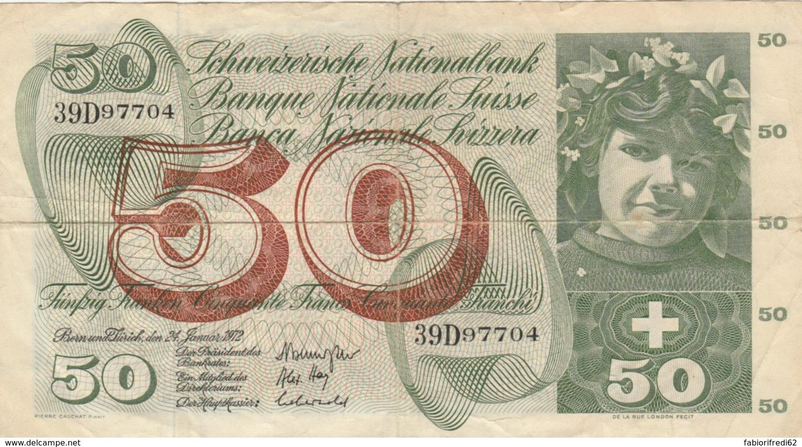 BANCONOTA SVIZZERA 50 FRANCHI VF- (VX967 - Switzerland