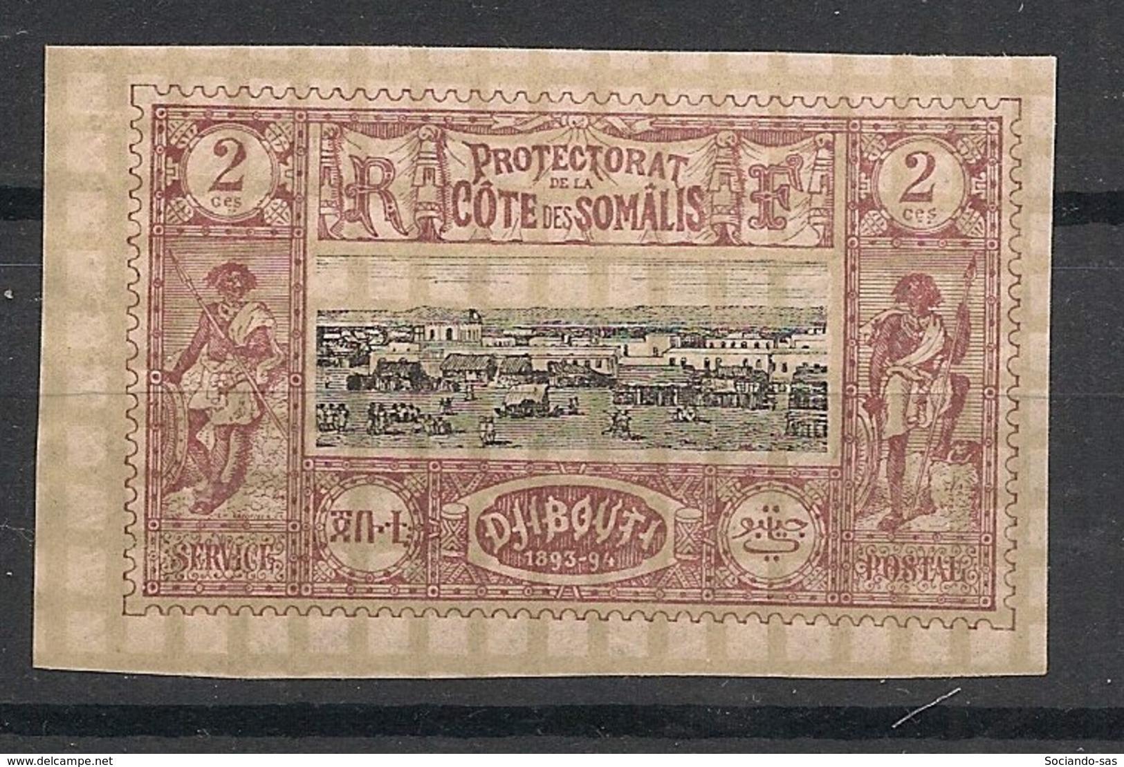 Côte Des Somalis - 1894-1900 - N°Yv. 7 - Djibouti 2c Brun-lilas - Neuf Luxe ** / MNH / Postfrisch - Ungebraucht