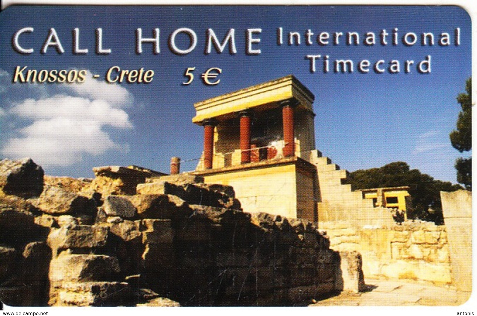 GREECE - The Palace Of Knossos/Crete, Satline Prepaid Card 5 Euro, Exp.date 31/12/03, Used - Paesaggi
