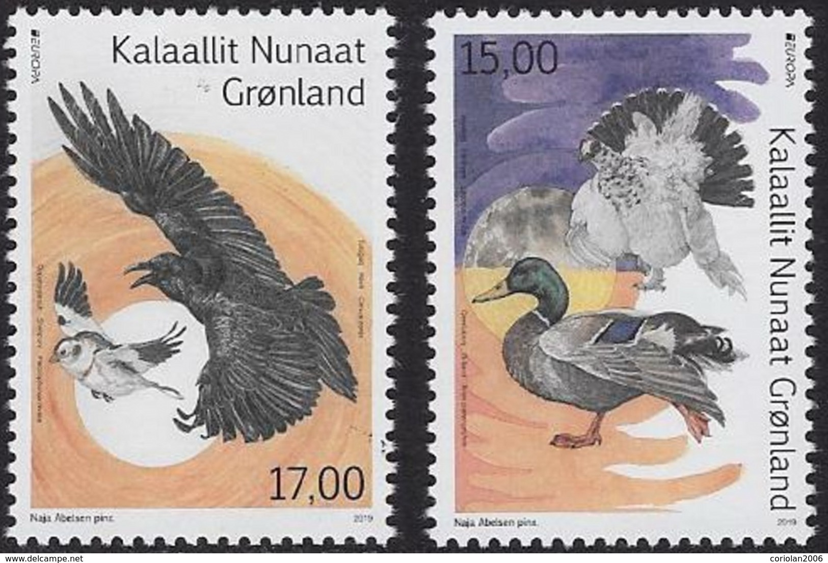 Europa 2019 / Greenland / Set 2 Stamps - 2019