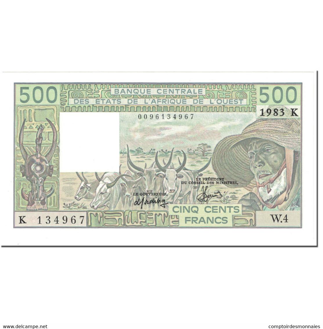 Billet, West African States, 500 Francs, 1983, Undated (1983), KM:706Kf, NEUF - West-Afrikaanse Staten