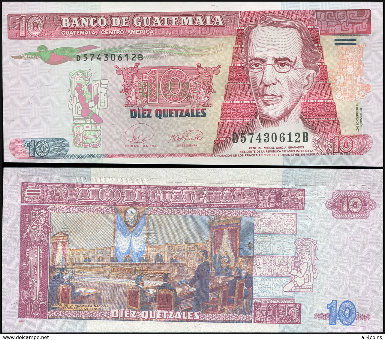 Guatemala 10 Quetzales. 17.01.2007 Unc. Banknote Cat# P.111b - Guatemala