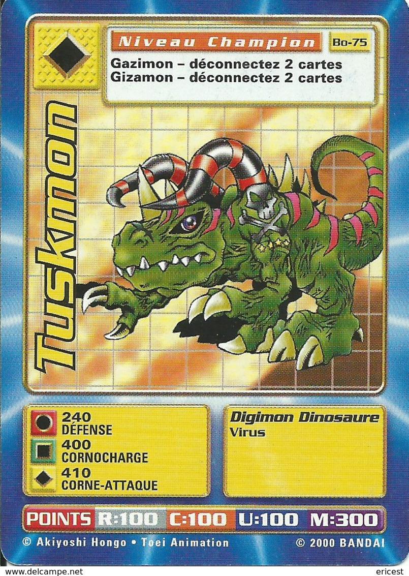 B - CARTE DIGIMON TUSKMON BO-75 FR ETAT COURANT - Trading Cards