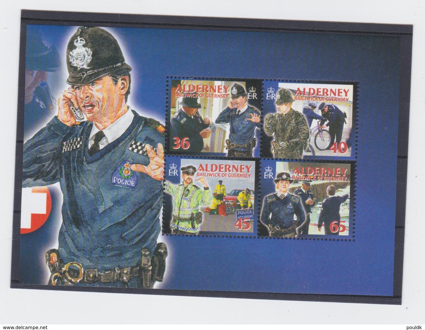 Alderney 2003 Police Four Stamps MNH/** (H50) - Politie En Rijkswacht