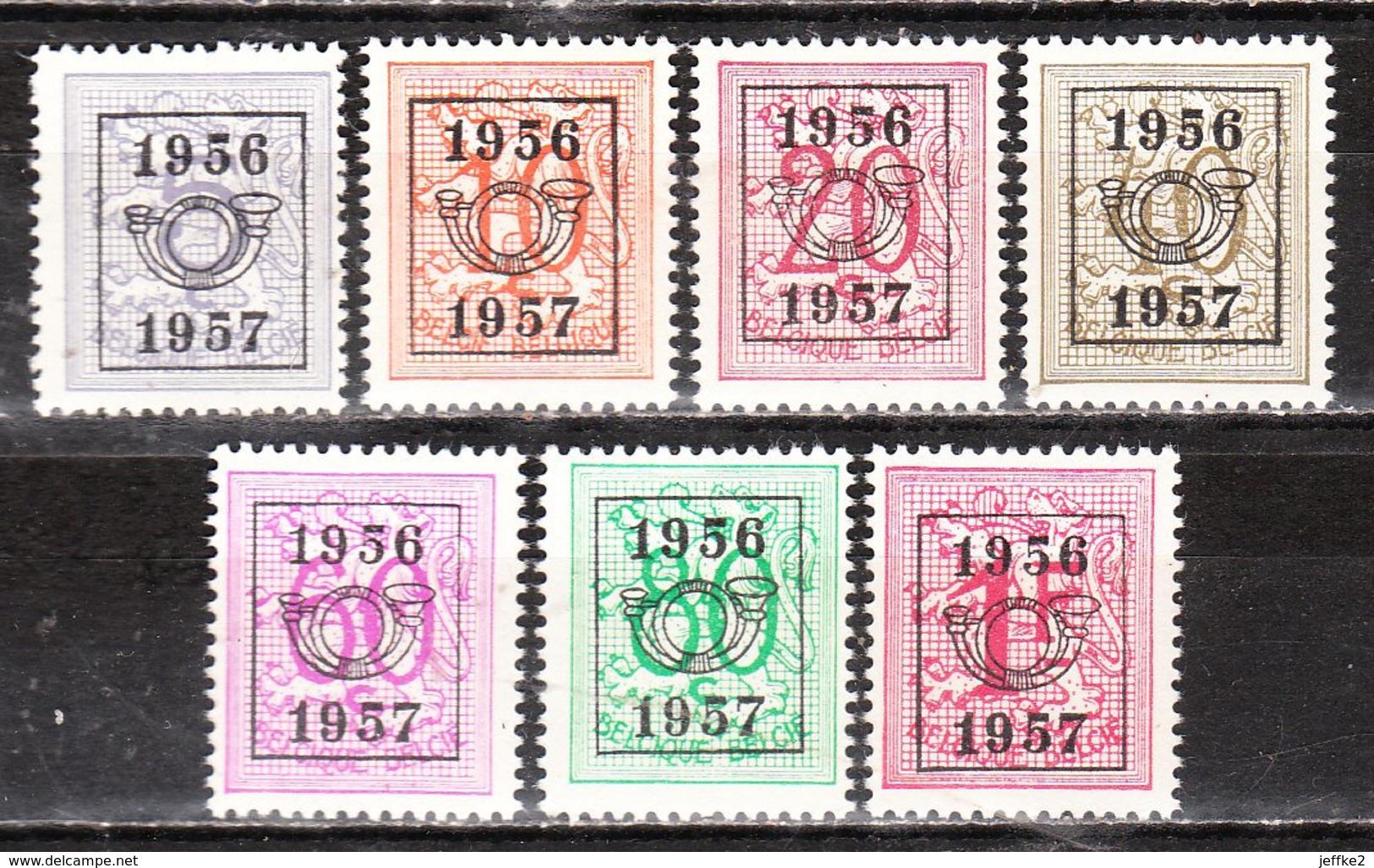 PRE659/65**  Chiffre Sur Lion - Année 1956 - Série Complète - MNH** - LOOK!!!! - Préoblitérés