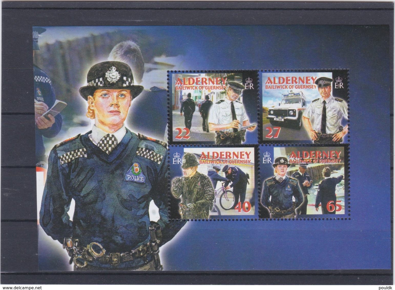 Alderney 2003 Police Four Stamps MNH/** (H50) - Policia – Guardia Civil