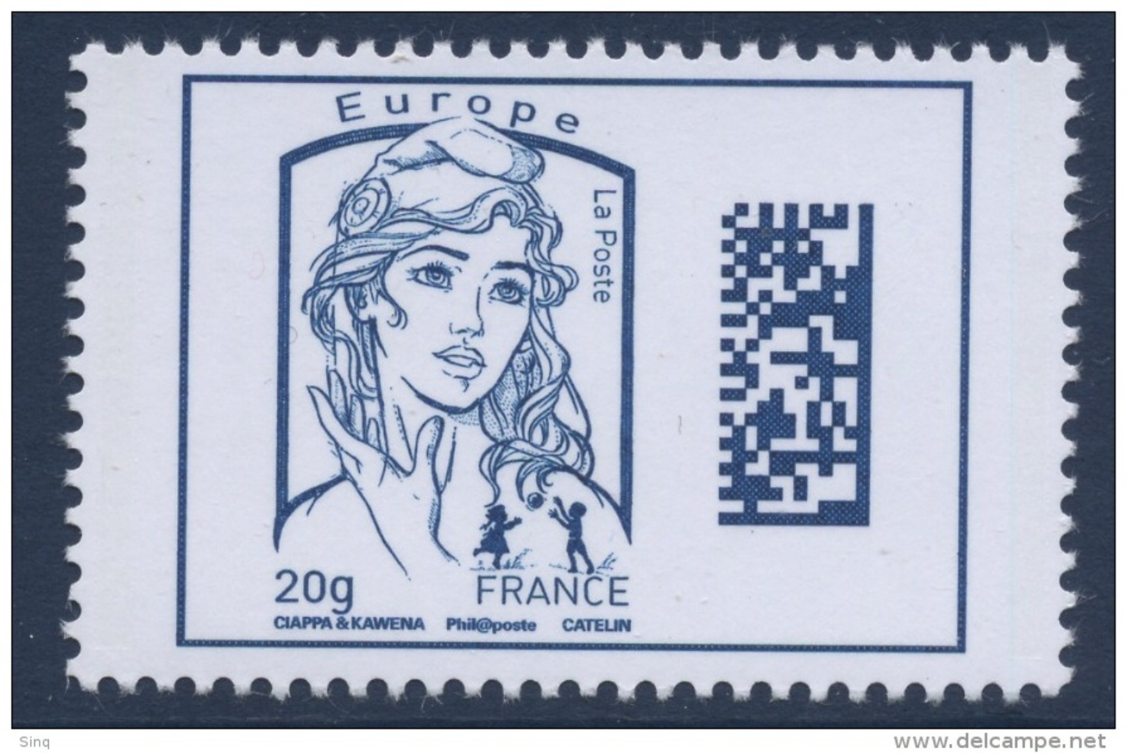 N° 4975 Marianne Datamatrix Faciale Europe 20g - Unused Stamps
