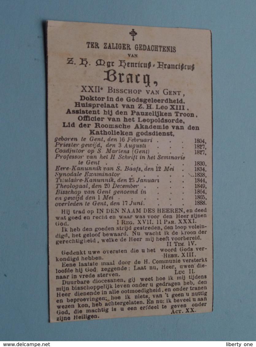 DP > Z.H.Mgr Henricus BRACQ > XXIIe Bisschop Van GENT > 16 Feb 1804 - 17 Juni 1888 ( Bijgesneden Prent ) ! - Obituary Notices