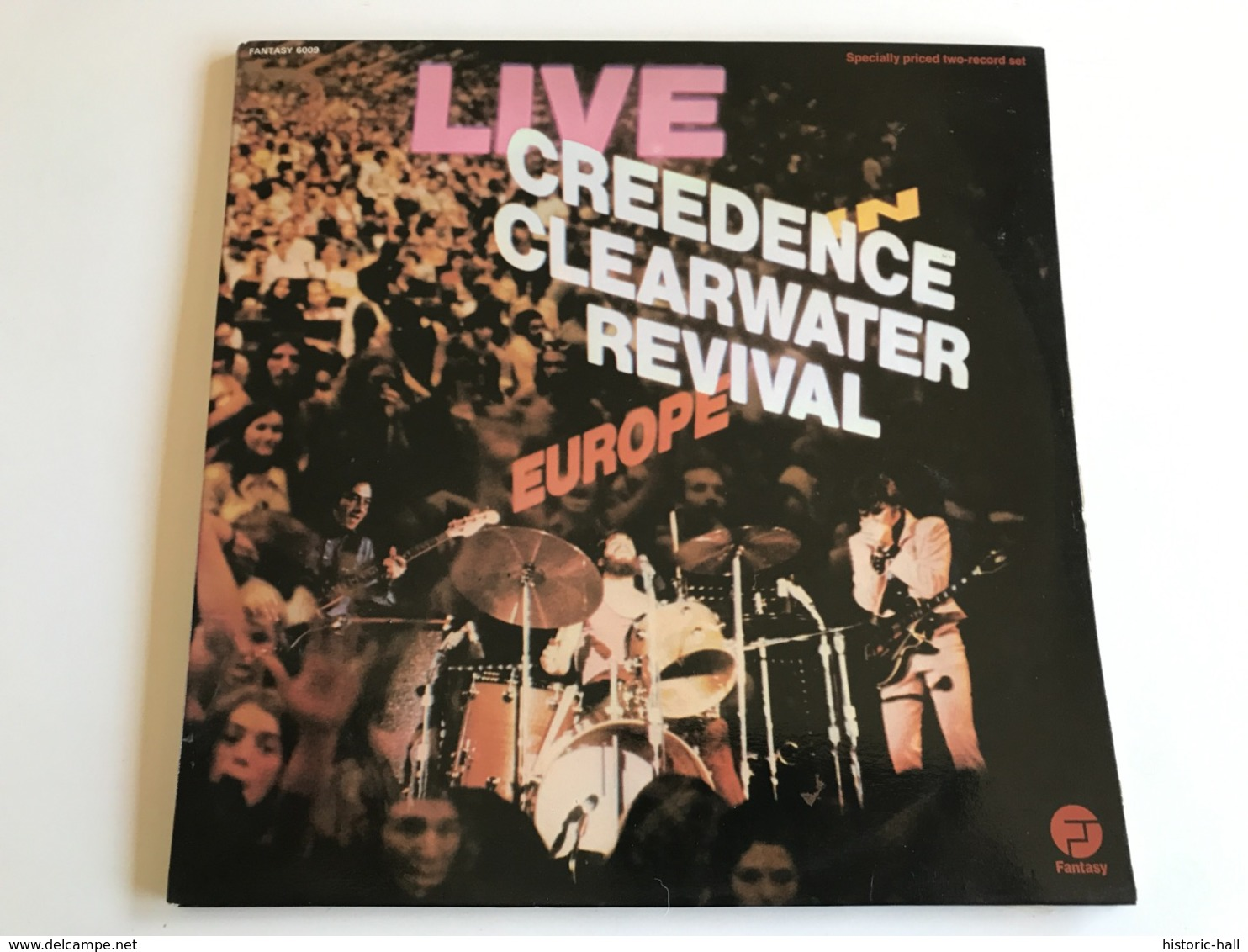 CREEDENCE CLEARWATER REVIVAL «live Europe» 2 LP FRENCH Press - Rock