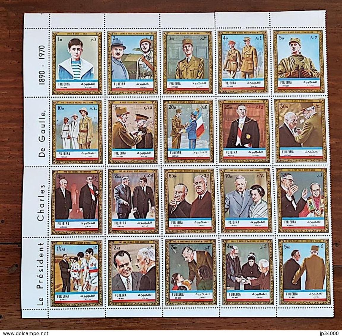 FUJEIRA DE Gaulle. N° Michel N° 936 / 955 A Complet DENTELE (perf). Neuf Sans Charniere. (MNH) - De Gaulle (General)