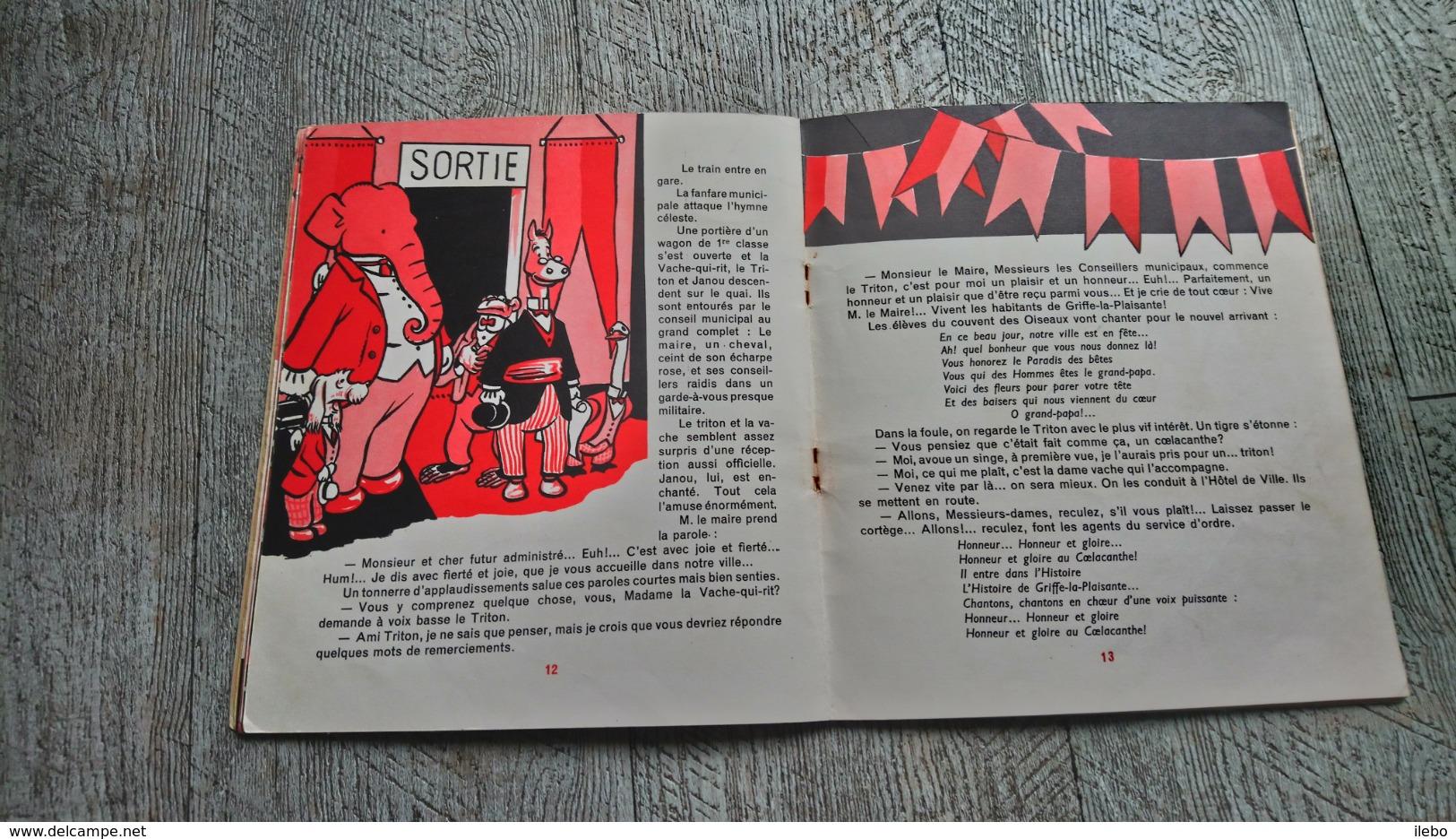 Au Paradis Des Animaux Alain Saint Ogan N°4 La Vache Qui Rit  Illustré Enfantina - Other