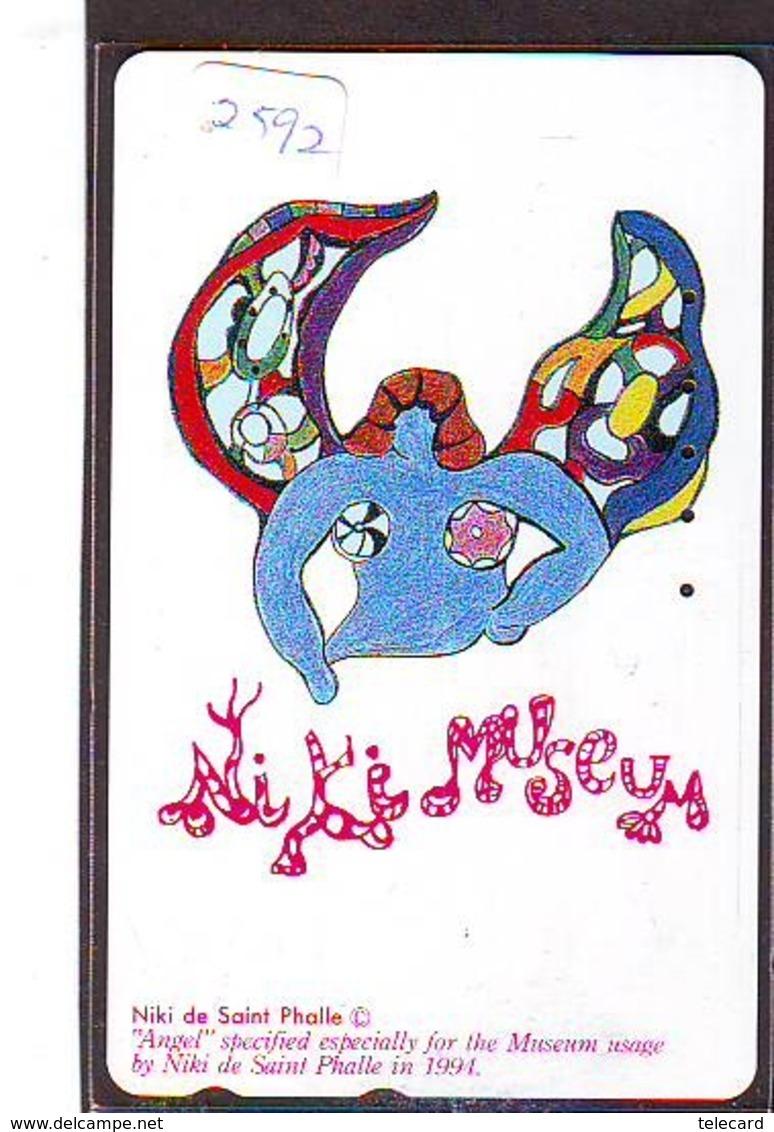 Télécarte Japon * PEINTURE * NIKI DE SAINT PHALLE  * ART (2592) Japan * Phonecard * KUNST TELEFONKARTE - Pintura