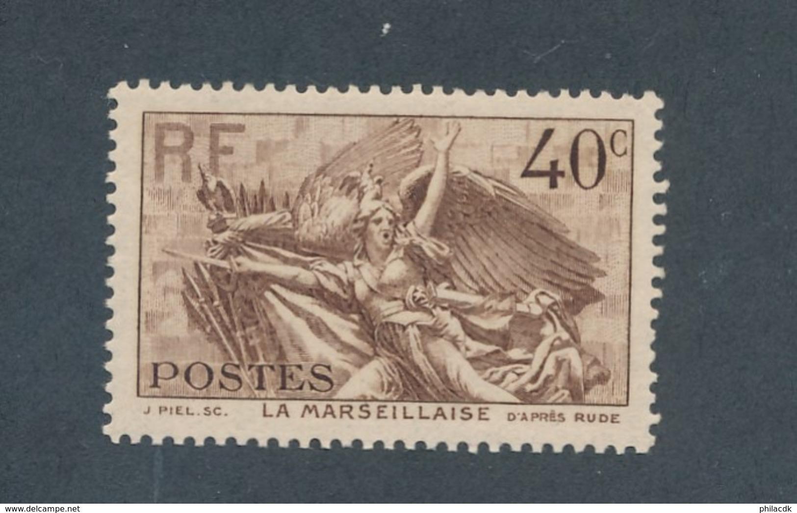 FRANCE - N°YT 315 NEUF** SANS CHARNIERE - COTE YT : 13€ - 1936 - France