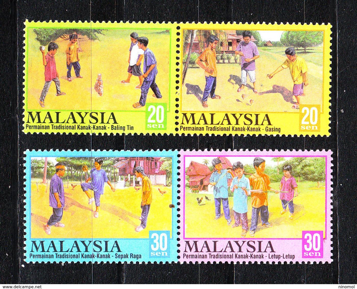 Malaysia   -  2000. Giochi Di Bimbi. Children's Games. Complete MNH Series - Giochi