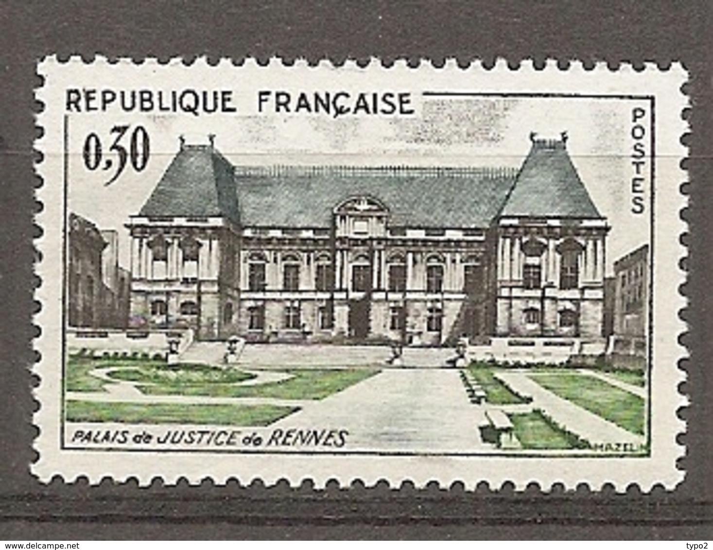 1962 Yv. N° 1351   ** MNH  Rennes  Cote  1,5  Euro TBE - Frankreich