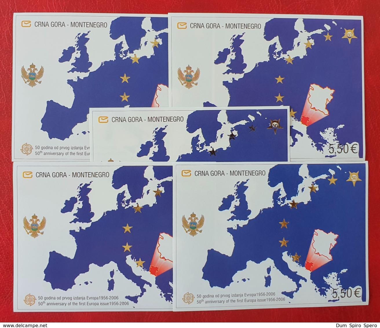 Montenegro 2005; 5 Sheets; Europa CEPT; MNH, Neuf**, Postfrisch!! Face Value 27.50 Euro; CV 100 Euro; - 2005