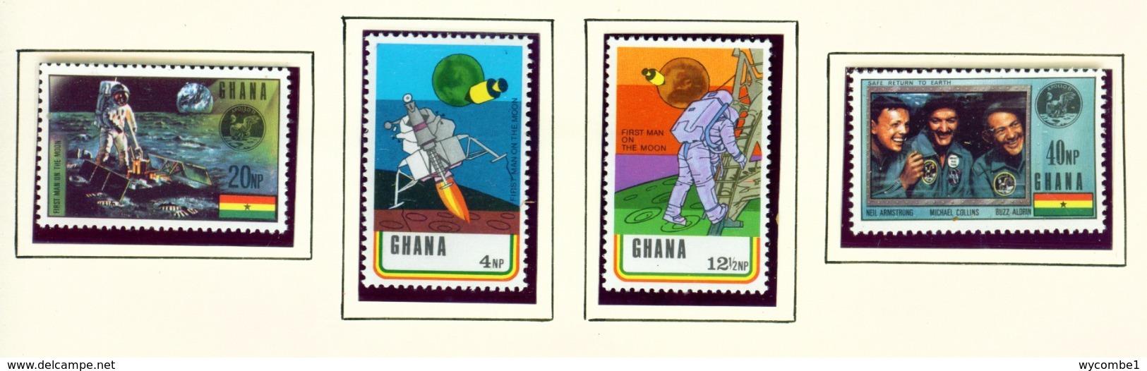 GHANA  -  1970 Moon Landing Set Unmounted/Never Hinged Mint - Ghana (1957-...)