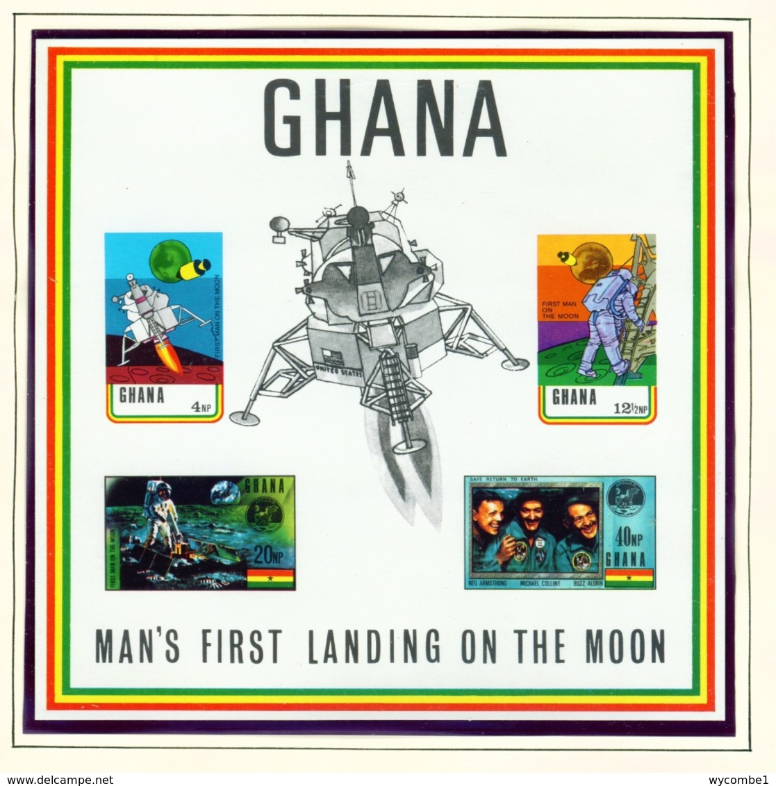 GHANA  -  1970 Moon Landing Miniature Sheet Imperf Unmounted/Never Hinged Mint - Ghana (1957-...)