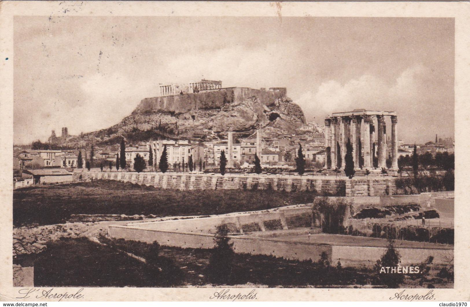 CARTOLINA - POSTCARD - GRECIA - ATHèNES - ACROPOLIS - VIAGGIATA PER RIDANNA ( BOLZANO)  ITALY - Grecia