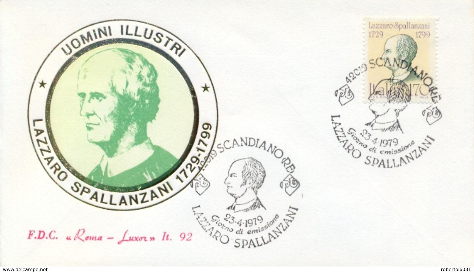 Italia Italy 1979 FDC ROMA LUXOR 250th Anniversary Birth Lazzaro Spallanzani Physiologist And Zoologist - Medicina